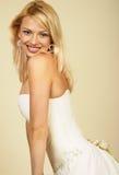 妇女年轻人的有吸引力的金发碧眼的& 库存图片
