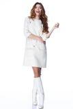 妇女式样衣裳时尚样式性感美丽 免版税库存图片