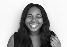妇女微笑的幸福画象概念 图库摄影