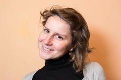 妇女微笑画象 免版税库存图片