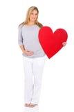 妇女心脏标志 库存图片