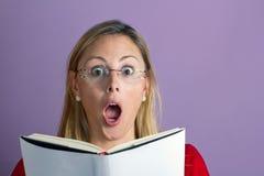 妇女惊奇 免版税库存图片