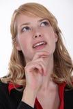 妇女想知道 免版税库存图片