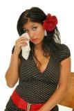 妇女感受哀情 库存图片
