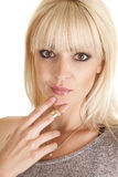 妇女戒指上面 免版税库存图片