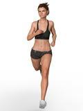 妇女或女孩赛跑 免版税库存照片