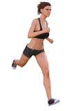 妇女或女孩赛跑 免版税库存图片