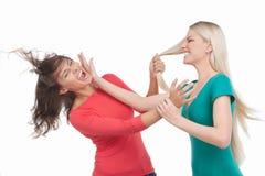 妇女战斗。 库存照片