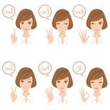 妇女手指姿势 免版税库存照片
