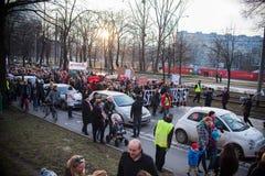 妇女抗议 免版税图库摄影