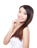 妇女护发 免版税图库摄影