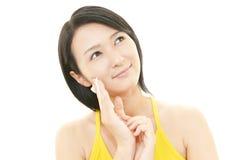 妇女护肤 免版税库存图片