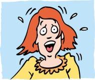 妇女担心 免版税库存图片