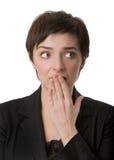 妇女担心 免版税库存照片
