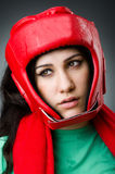 妇女拳击手 免版税图库摄影