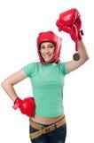 妇女拳击手 免版税库存图片