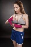 妇女拳击手 图库摄影