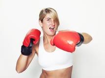 妇女拳击 库存照片