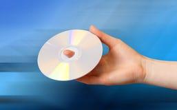 DVD在手中 库存图片