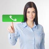 妇女接触 免版税库存图片