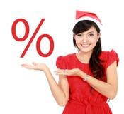 妇女推销活动 免版税库存照片