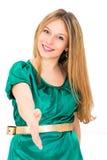 妇女握手 免版税库存图片