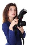 妇女摄影师 图库摄影