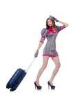 妇女旅行乘务员 库存照片