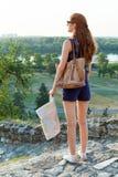 妇女旅行 免版税库存图片