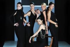 妇女时装表演 库存照片
