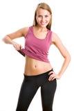 妇女显示她的腹部 库存照片