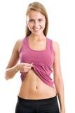 妇女显示她的腹部 库存图片