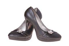 妇女查出的`s鞋子 免版税库存图片