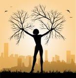 妇女树的例证 免版税图库摄影