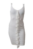 妇女棉花礼服 免版税库存图片