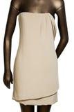 妇女棉花礼服 免版税图库摄影