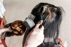 妇女死的头发,灰色头发 免版税库存照片