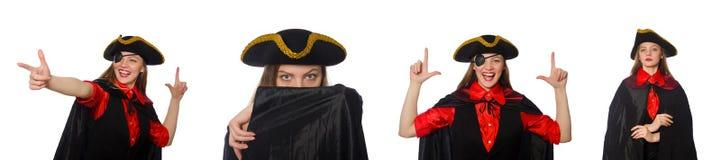 妇女海盗以各种各样的概念 免版税库存照片