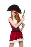妇女海盗 免版税图库摄影