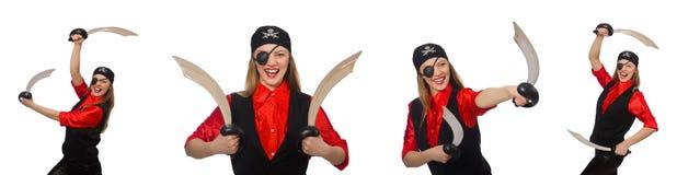 妇女海盗 库存图片