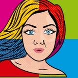 妇女漫画 免版税库存图片