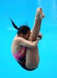 妇女潜水 库存图片
