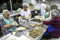 妇女烹调 免版税库存图片