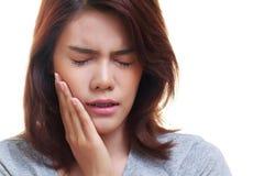 妇女牙痛 免版税库存图片