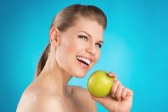 妇女牙齿保护 库存照片