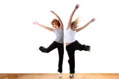 妇女现代体育运动舞蹈演员 免版税库存照片
