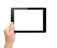 妇女现有量暂挂与查出的屏幕的一种微型片剂 库存图片