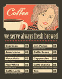 妇女用咖啡 免版税库存图片