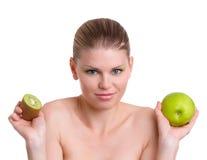 妇女用果子 免版税库存图片