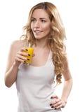 妇女用汁液 免版税图库摄影